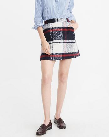 ANF Plaid A-Line Mini Skirt