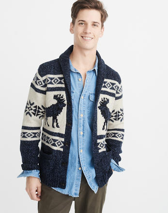 ANF Moose Cardigan