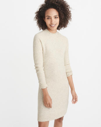 ANF Button-Back Sweater Dress