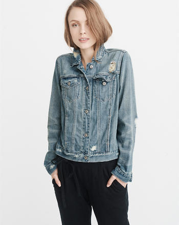 ANF Ripped Denim Jacket