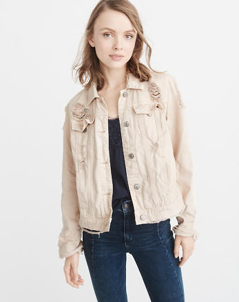 ANF Ripped Denim Jacket