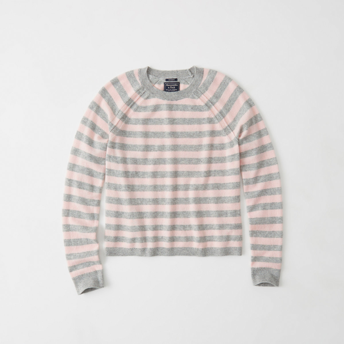 Cashmere Striped Crew Sweater
