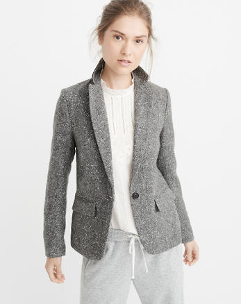 ANF Single-Breasted Blazer