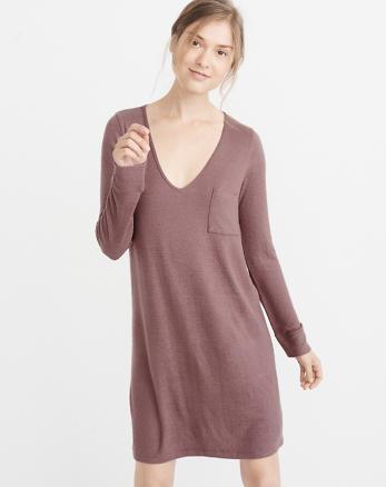ANF Cozy V-Neck Dress