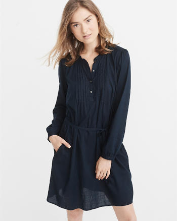 ANF Poplin Pintuck Dress