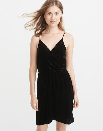 ANF Velvet Wrap-Front Dress