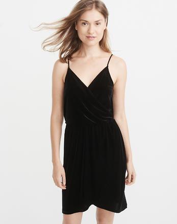 ANF Velvet Wrap-Front Dress