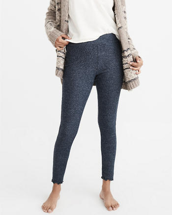 ANF Ribbed Ruffle Hem Leggings
