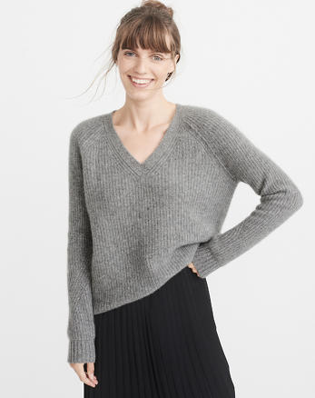 ANF Cashmere V-Neck Sweater