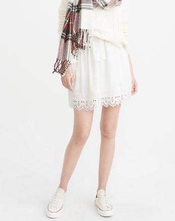 ANF Eyelet Mini Skirt