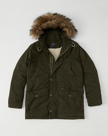ANF B-9 Sherpa-Lined Parka