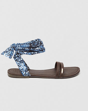 ANF Tie Ankle Sandals