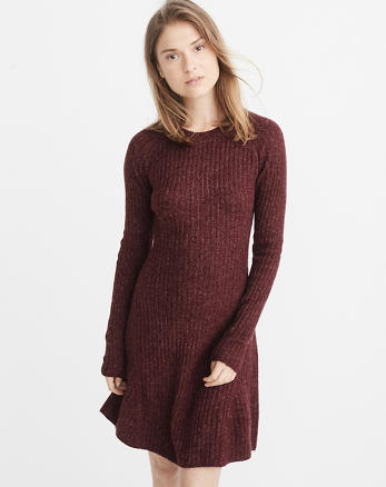ANF Fit & Flare Sweater Dress