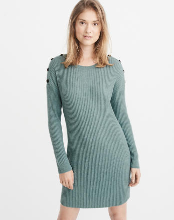 ANF Button Shoulder Sweater Dress