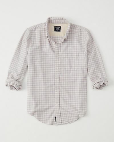 Heathered Oxford Shirt by Abercrombie & Fitch