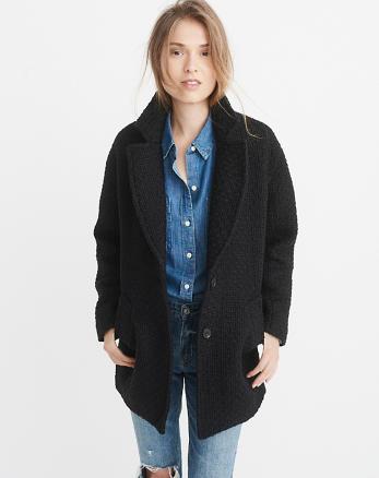 ANF Wool-Blend Overcoat