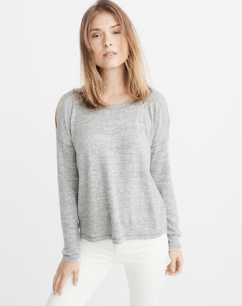 ANF Cozy Cold-Shoulder Top