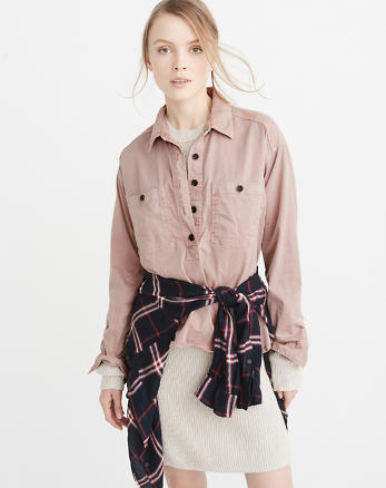 ANF Military Popover Shirt