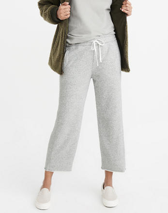 ANF High-Rise Cropped Sweatpants
