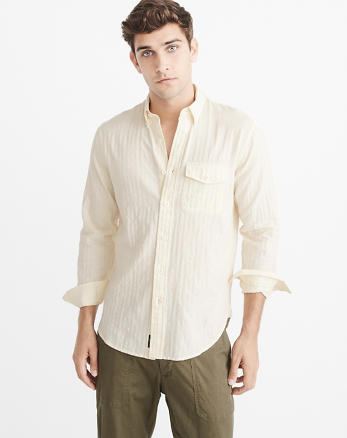 ANF Herringbone Shirt