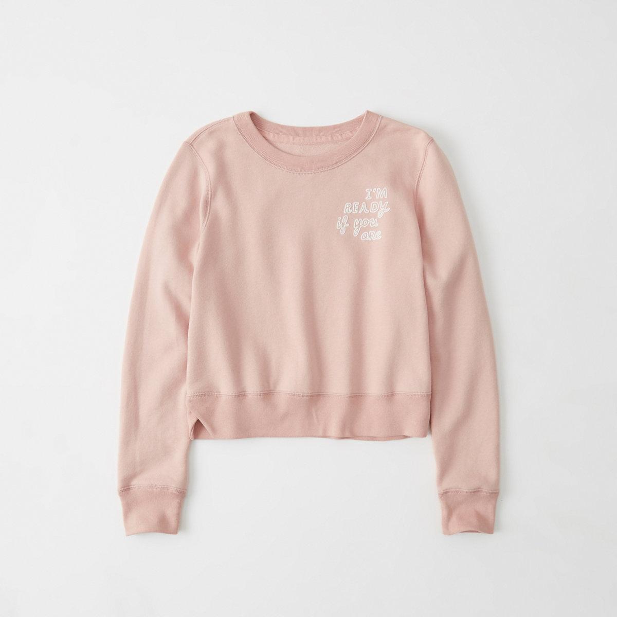 Cropped Graphic Sweatshirt