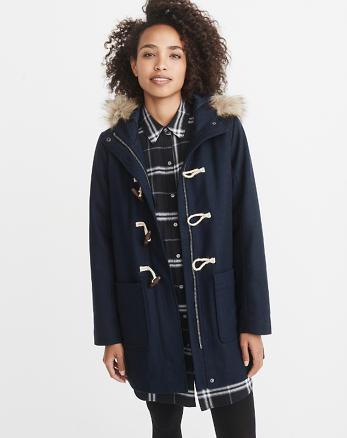 ANF Wool-Blend Duffle Coat
