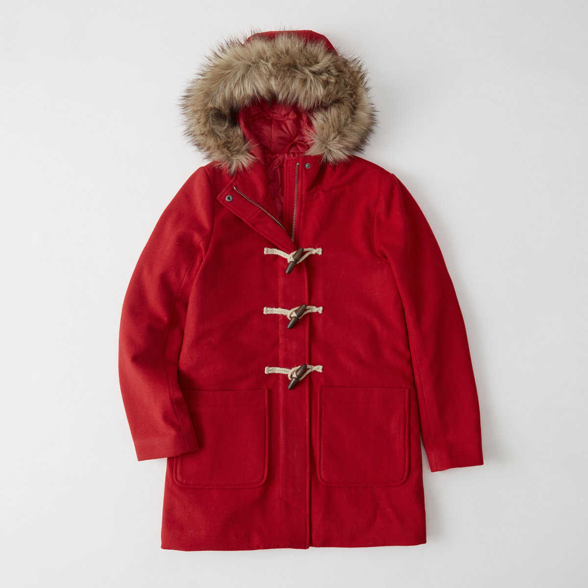 Wool-Blend Duffle Coat