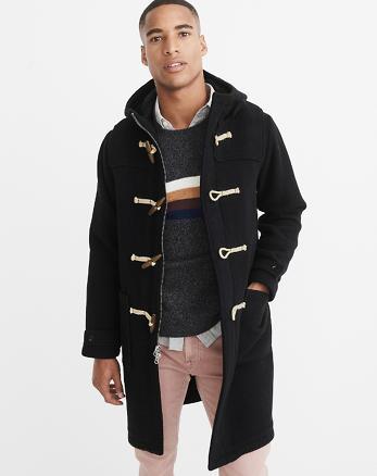 ANF Italian Wool-Blend Duffle Coat