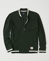 Zip Up Fleece Bomber Jacket by Abercrombie & Fitch