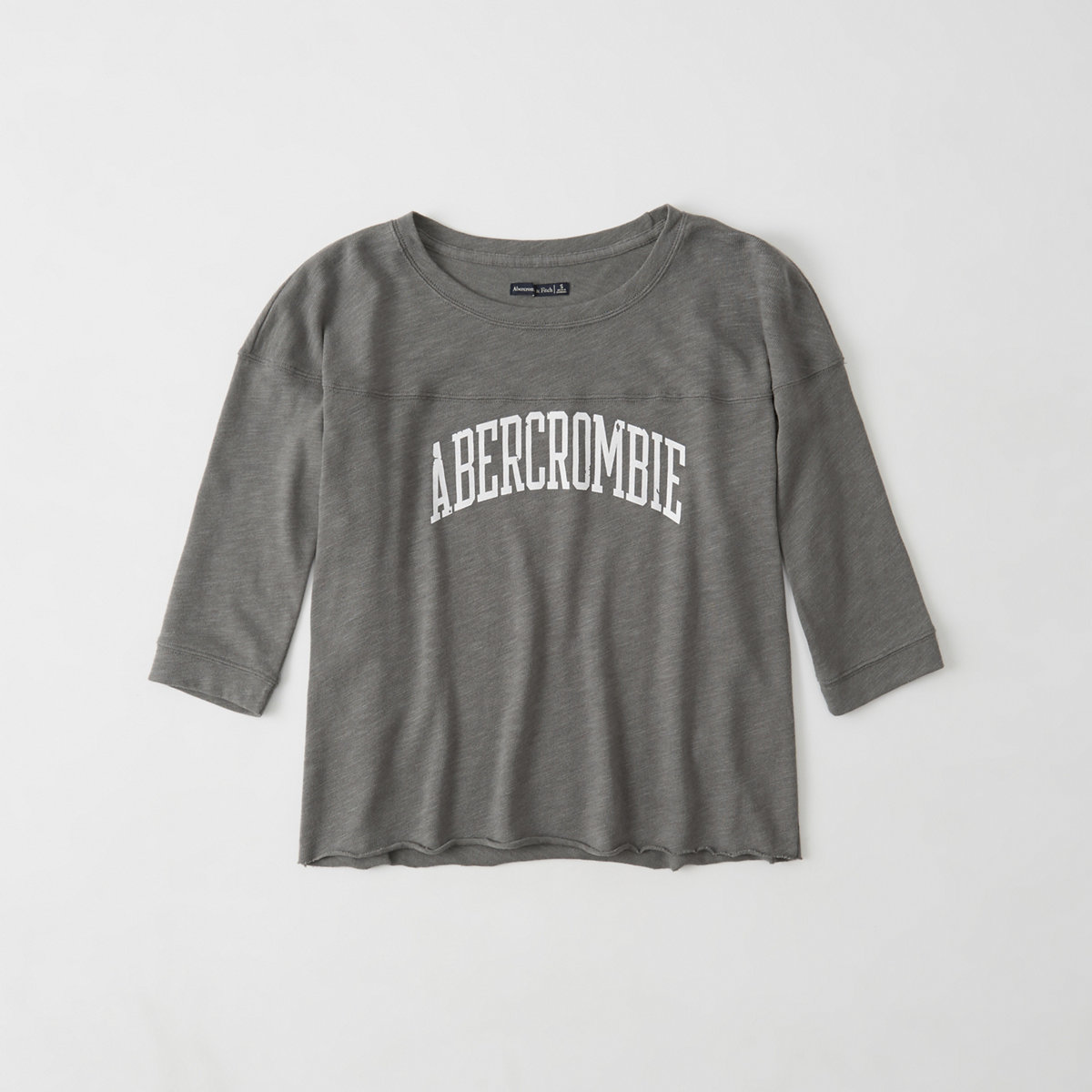 Abercrombie long-sleeved graphic football tee