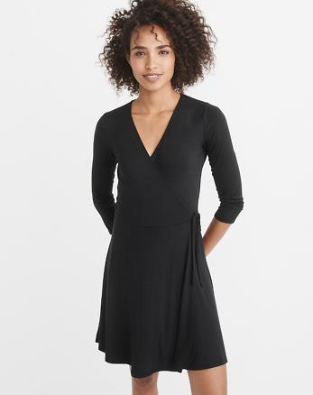 ANF Knit Wrap Dress