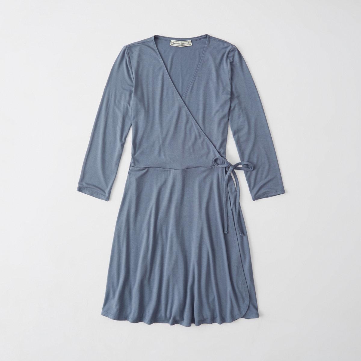 Knit Wrap Dress