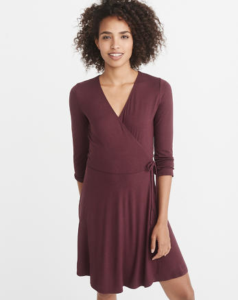 ANF Knit Wrap Dress