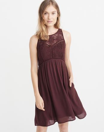 ANF Sleeveless Lace Dress