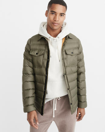 ANF Lightweight Down-Filled Shirt Jacket