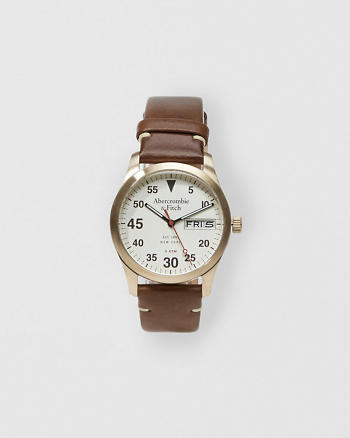 ANF Leather-Strap Watch