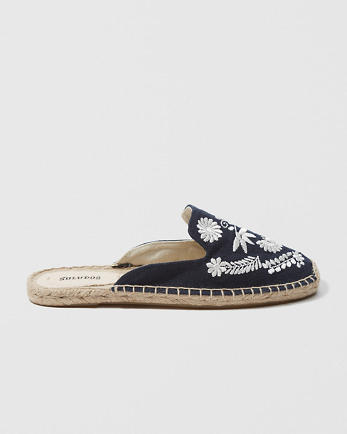 ANFSoludos Embroidered Mule
