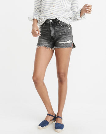 Womens High Waisted Shorts Jeans Double Agent 9qvZ2rPYLx