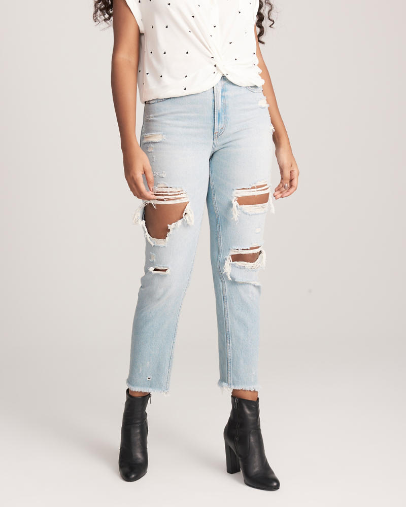 Womens - High Rise Mom Jeans | Womens - Bottoms | Abercrombie.com