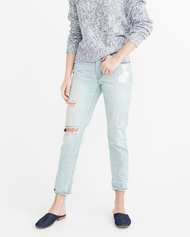 Womens - Jeans boyfriend de tiro bajo | Womens - Sale | Abercrombie.com