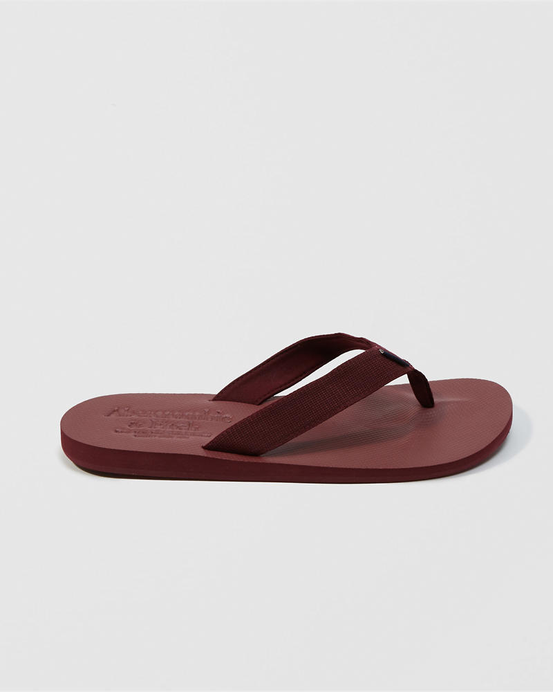 Mens Rubber Flip Flops Shoes Abercrombiecouk Tendencies Sandals Footbed 2 Strap Brown 41 Product Image