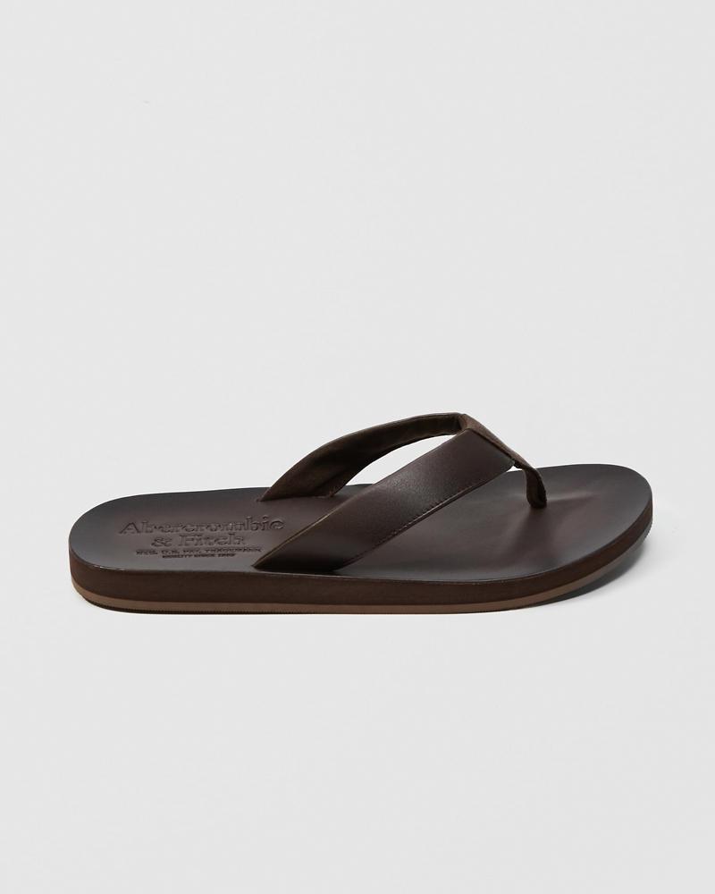 da5f6557f81e Mens Leather Flip Flops
