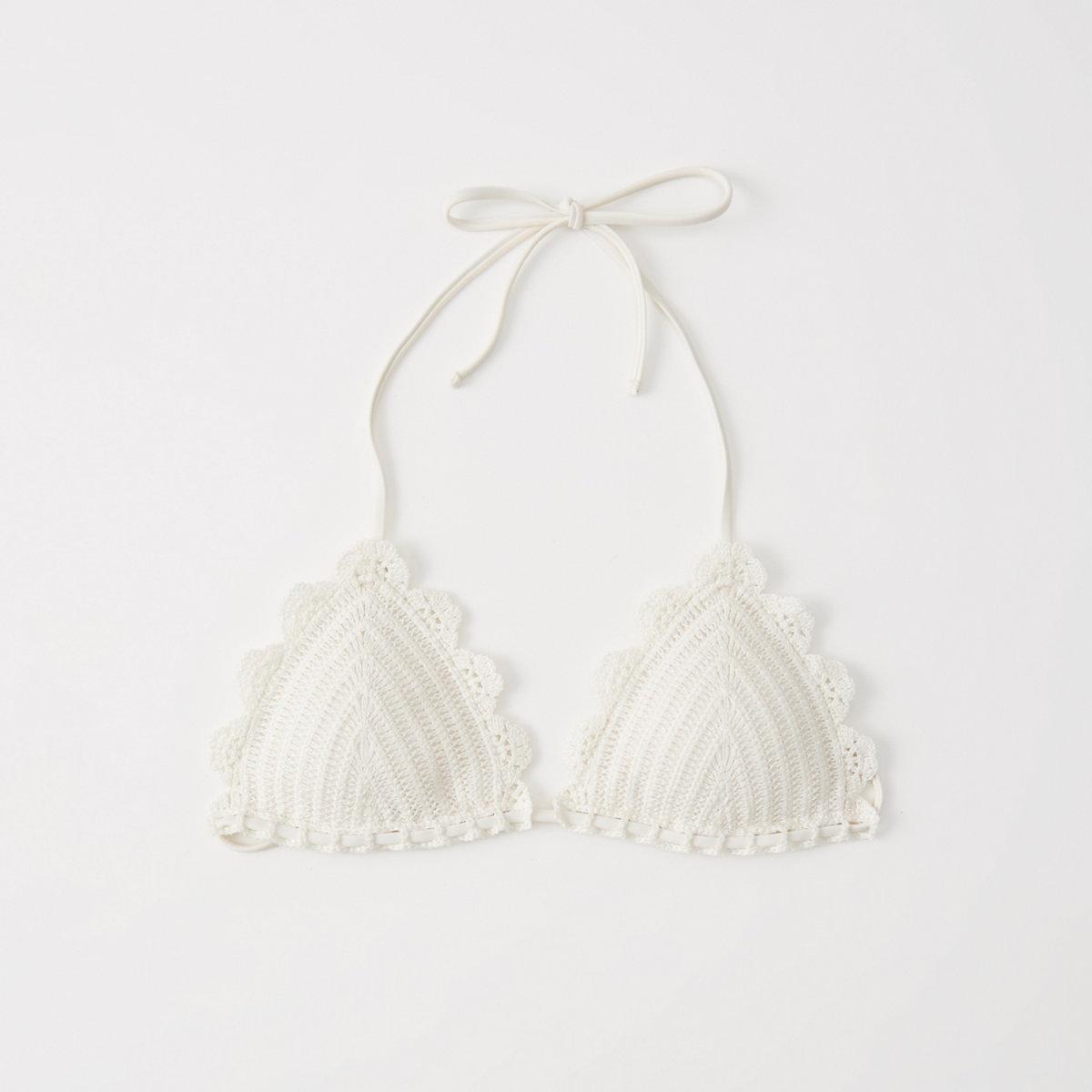 Crochet Triangle Bikini Top