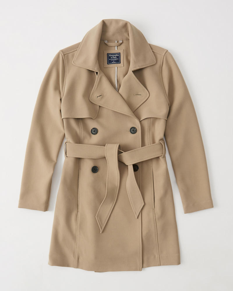 Womens Drapey Trench Coat   Womens Coats   Jackets   Abercrombie.com 89bc4092c6