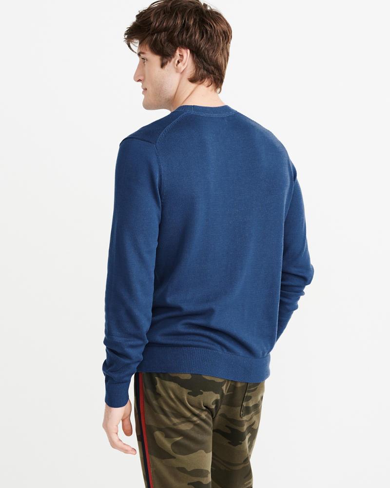 56e6833321c Mens Icon Crew Sweater | Mens Clearance | Abercrombie.com