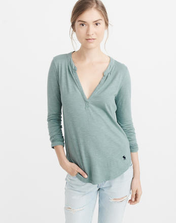 ANF Icon Notch Neck Top