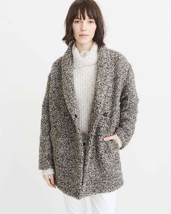 ANF Wool-Blend Overcoat