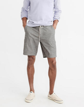 ANF Pull-On Plainfront Shorts