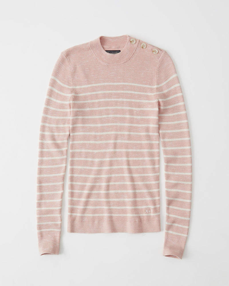 Womens Button Mock Sweater | Womens Clearance | Abercrombie.com