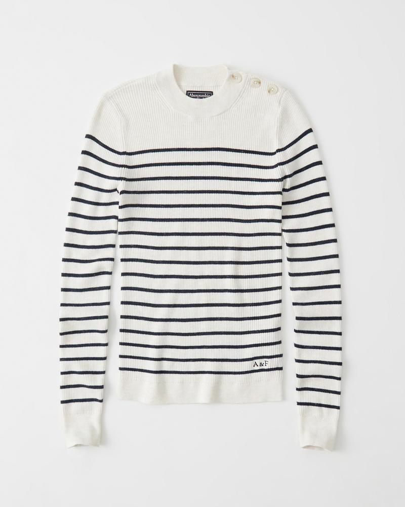 Womens Button Mock Sweater Womens Sale Abercrombiecouk
